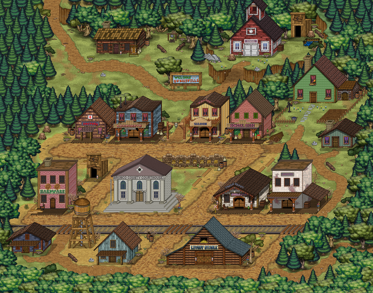 Swellsville Corral Countdown 41: Shrinking Swellsville (Friday Devblog)
