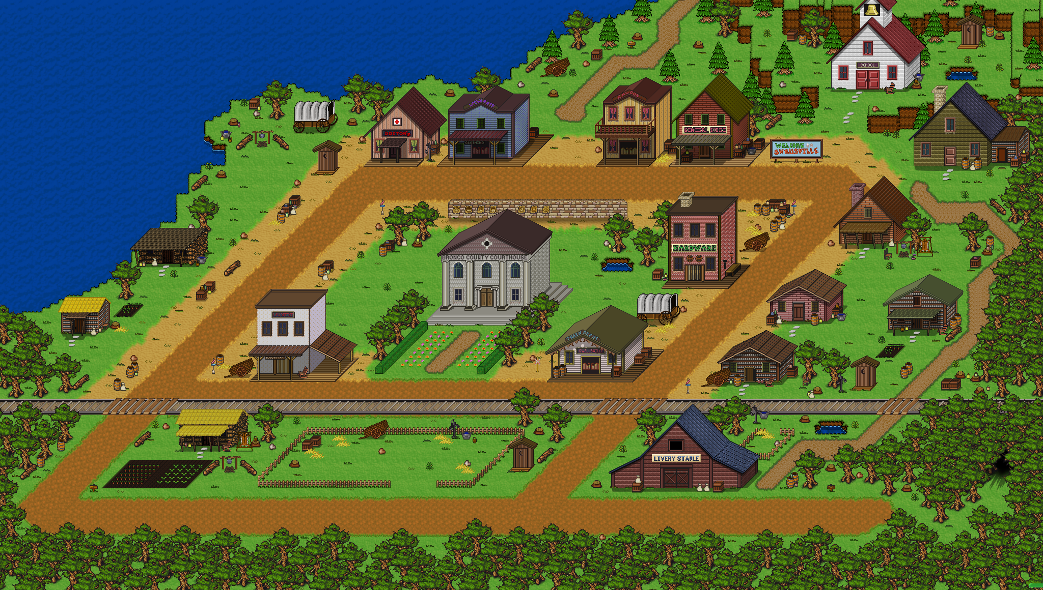 SwellsvilleTown2 Corral Countdown 41: Shrinking Swellsville (Friday Devblog)