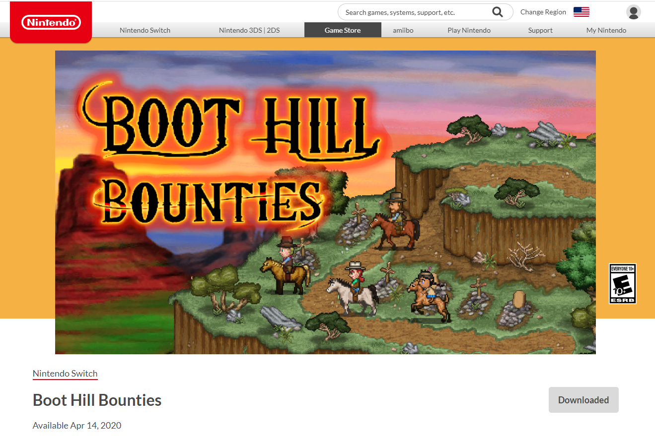 eShop Boot Hill Bounties Arrives on Nintendo Switch April 14!