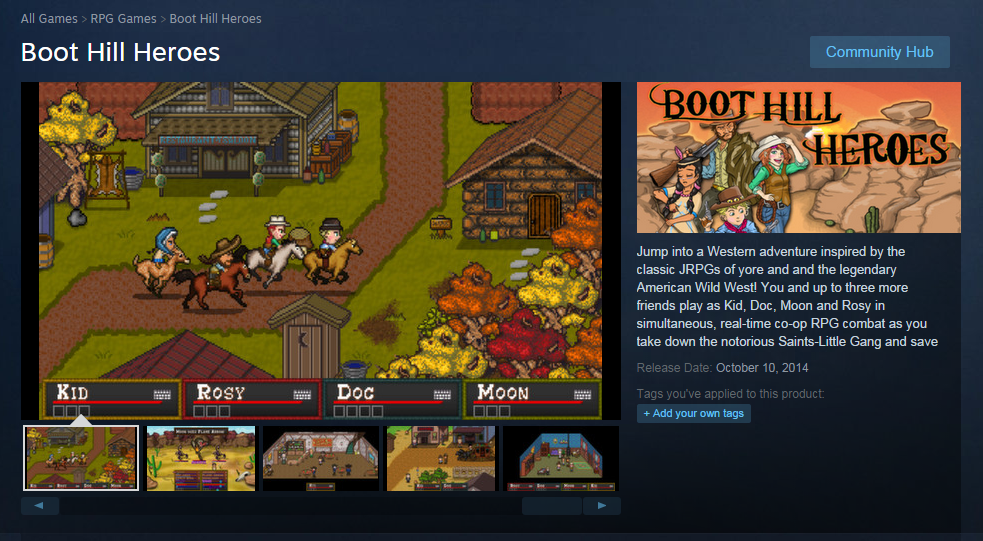 SteamStorePage Boot Hill Heroes Arrives on Steam October 10 at 50% off!