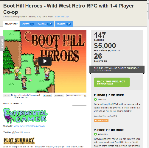 KickstarterFunded You did it!  Boot Hill Heroes Kickstarter funded!