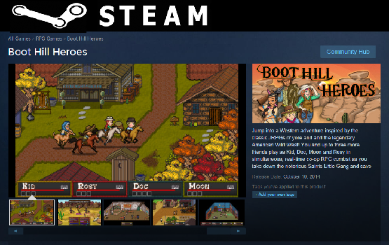 SteamStorePageLink1 Boot Hill Heroes