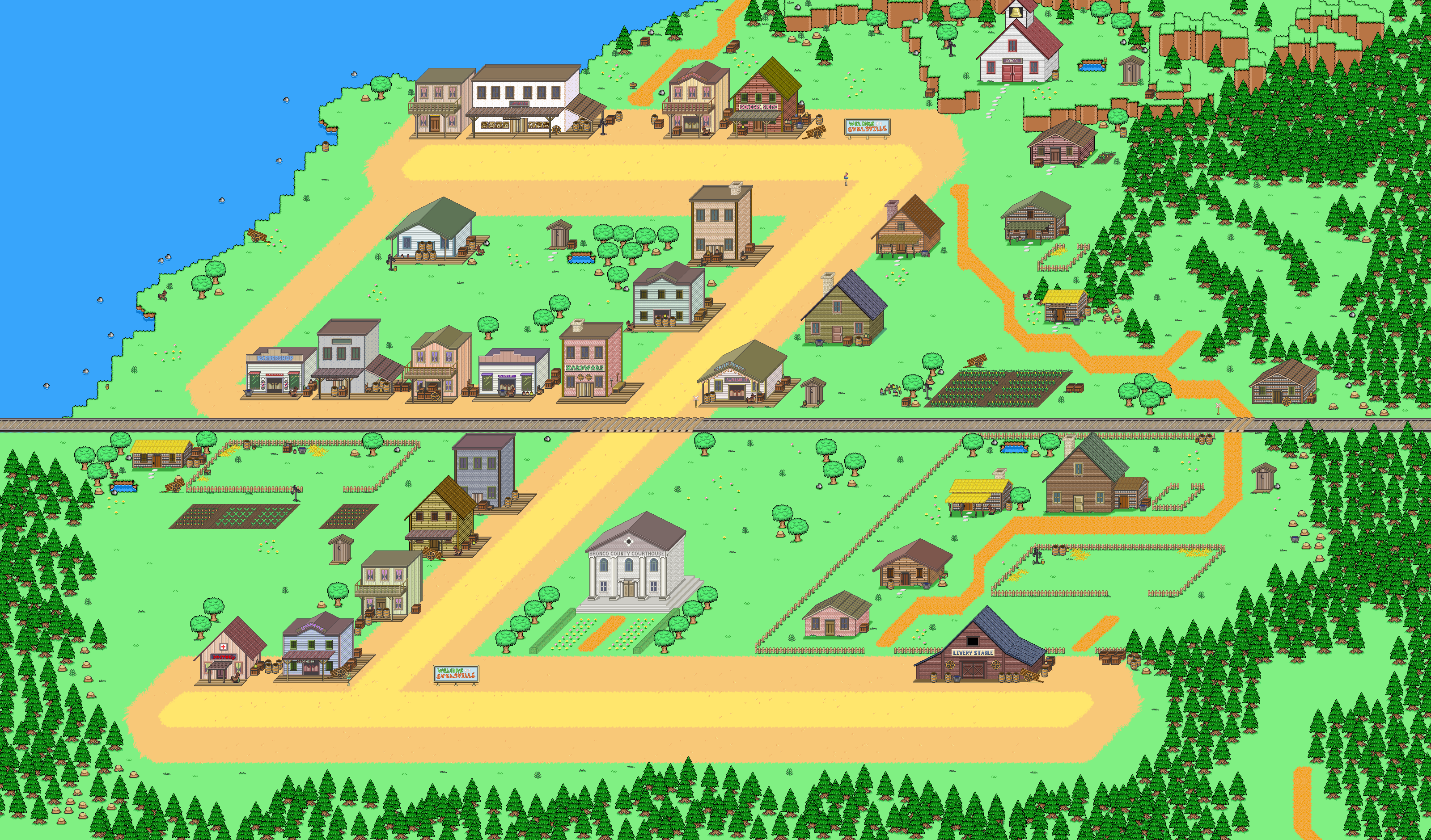 SwellsvilleTown Corral Countdown 41: Shrinking Swellsville (Friday Devblog)