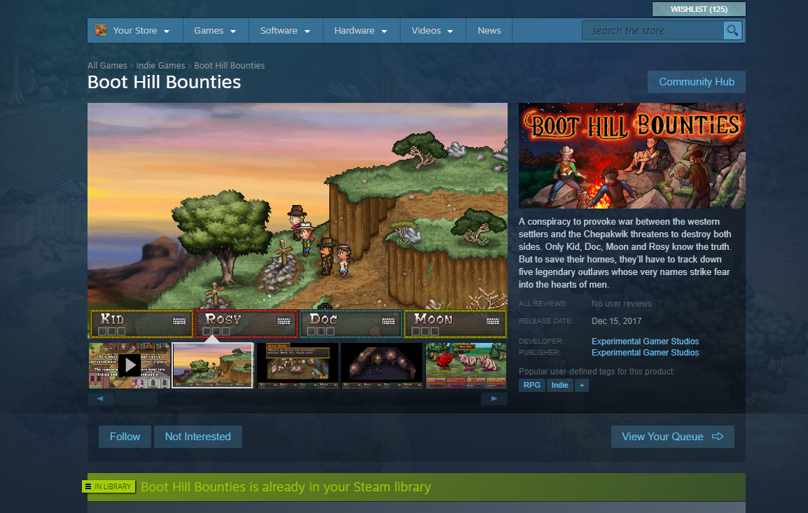 steampage Corral Countdown 1: Boot Hill Bounties is Now Available on Steam at 40% Off